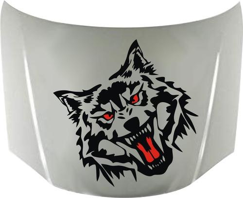 calcos wolf lobo 04 para capot + regalo !! graficastuning 00074