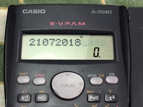 calculador cientifica casio fx350 ms svpam
