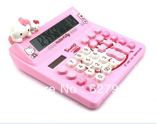 calculador hello kitty solar