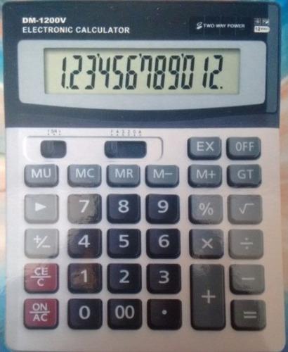calculadora 12 dígitos solar de mesa
