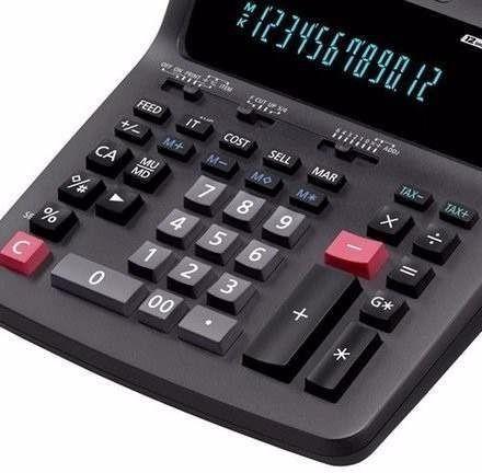 calculadora bobina casio dr-120tm 12 dígitos e 2 cores 110v