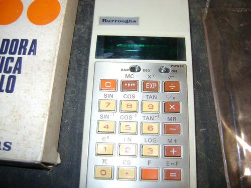 calculadora  burroughs  cientifica