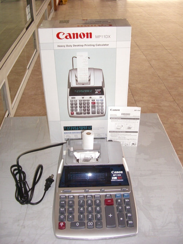 calculadora canon mp11dx nueva sin uso  12 digitos
