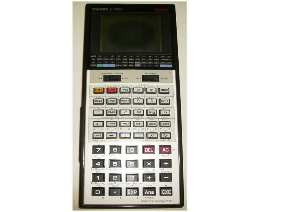 1a29260d686 calculadora casio científica gráfica fx-8500g-mancha na tela. Carregando  zoom.