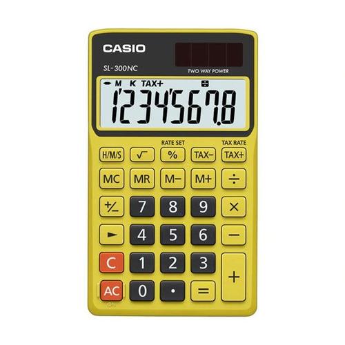 calculadora casio colorful sl-300nc-byw-s-dh amarela