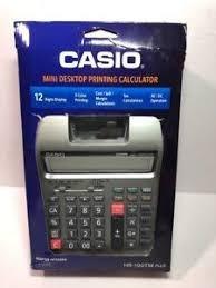 calculadora casio de 12 digito de impresion