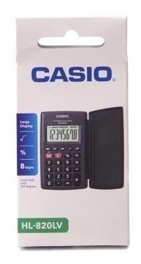 calculadora casio de bolsillo hl-820lv 8 digitos lince