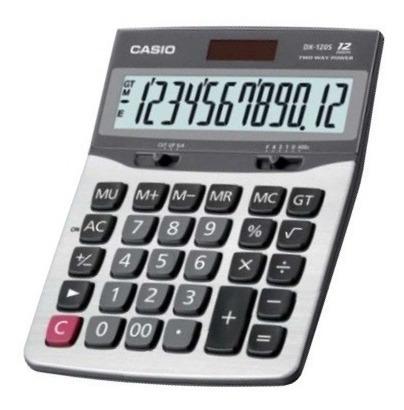 calculadora casio dh-120 pantalla grandre solar y pila