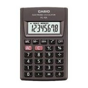 calculadora casio digital portátil hl-4a