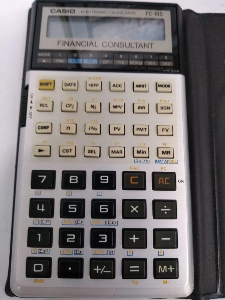 8fe7b27f541a Calculadora Casio Fc-100 Financial Consultant Fc-100 Fc100 - R  218 ...