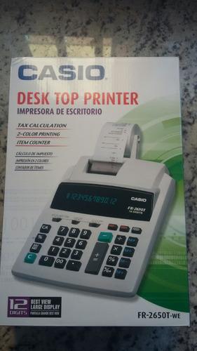 calculadora casio fr-2650t-we