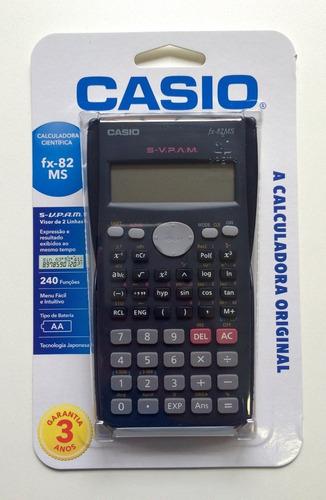 f4fa405a21a Calculadora Casio Fx-82ms Português Com Garantia Promoção - R  35