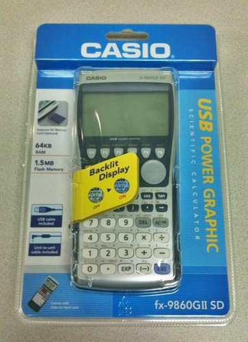 calculadora casio fx-9860 sd originales..... no copias!!!!