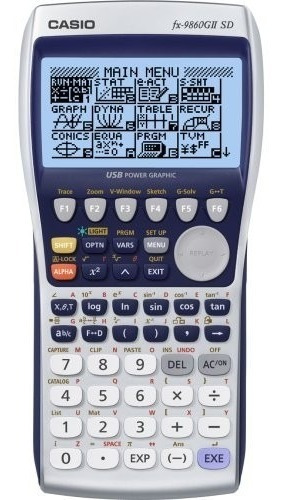 calculadora casio fx-9860gii sd graficadora - casio oficial