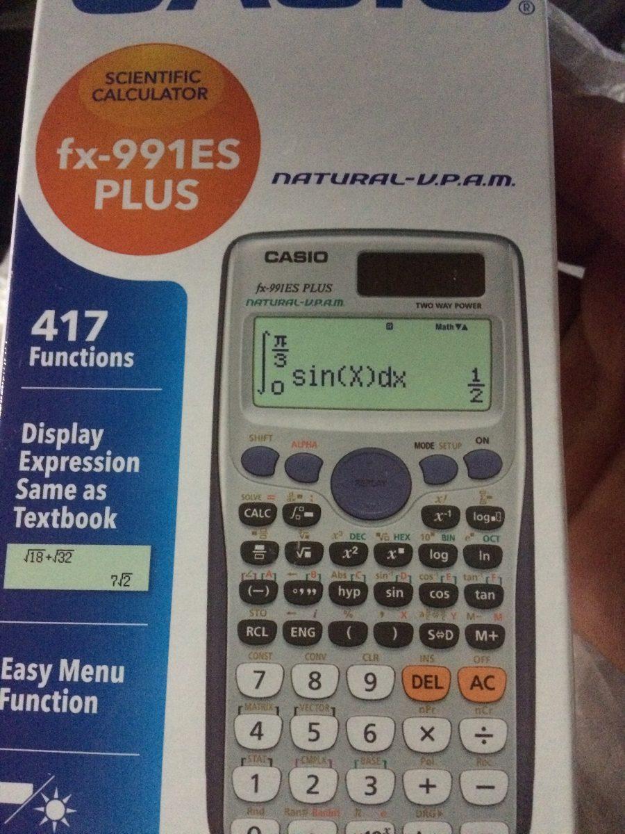 Calculadora Casio Fx 991es Plus Para Ingeniera O Qumica 42000 991 Id Calculator Cargando Zoom