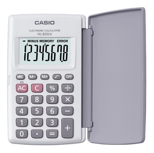 calculadora casio hl-820 lv con tapa  - distribuidor oficial