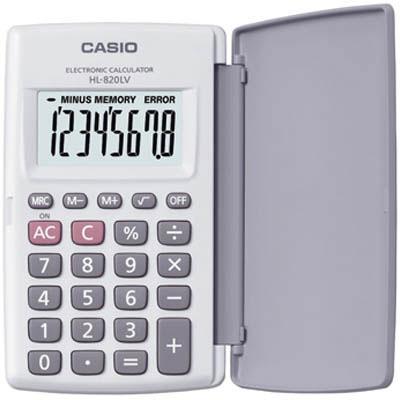 calculadora casio hl-820lv 8 digitos plasticas portatil