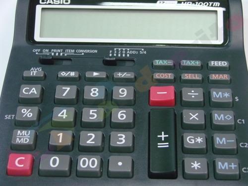 calculadora casio hr-100tm con impresora lcd 12 digitos