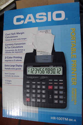 calculadora casio hr100tm bk a