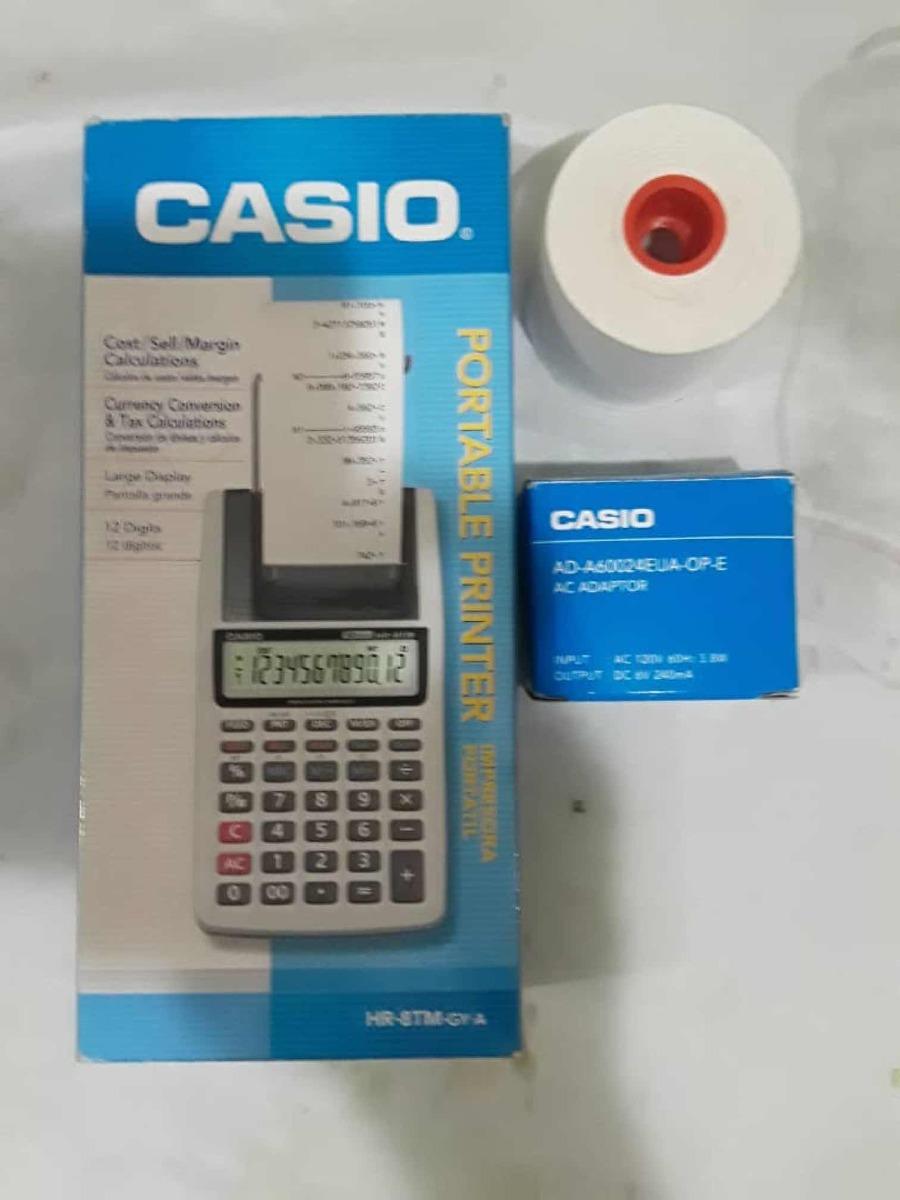 Calculadora Casio Impresora Porttil Hr 8tm Bs 240000 En Kalkulator Portable Printer 8 Tm Cargando Zoom