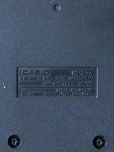 calculadora casio made in japan de los 80