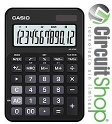 calculadora casio ms20nc 12 dígitos solar/pilas circuit shop
