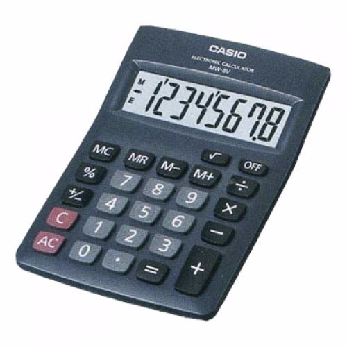 calculadora casio mw8v digital electronica para negocios isc