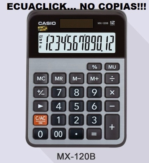 b398e0b0e1e2 Calculadora Casio Mx-120 B Originales... No Copias!!!