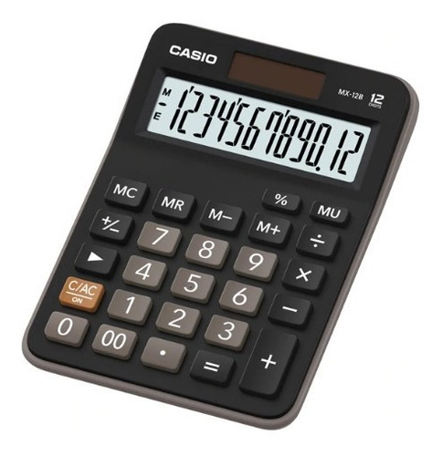 calculadora casio mx-12b preta de mesa 12 dígitos nf lacrada