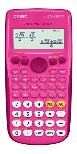 calculadora casio rosada cientifica fx 82 es plus / la plus
