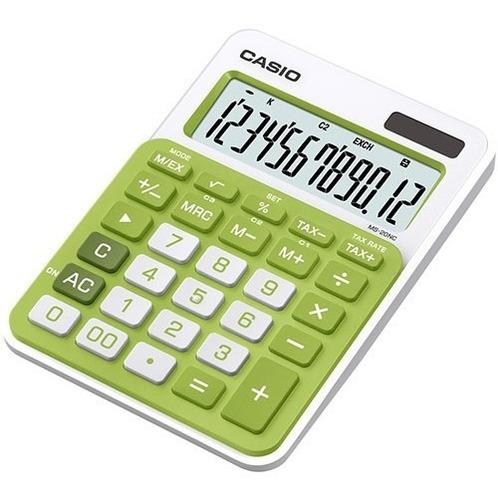 calculadora casio solar ms-20nc  12 digitos colores dist ofi