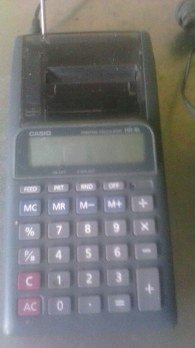 calculadora casioprinter hr-8l 10digitos
