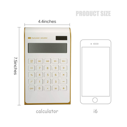 calculadora caveen de energía solar ultra delgada para ofici