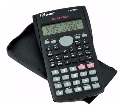 calculadora cientifica 2 linhas  240 funcoes tampa protetora