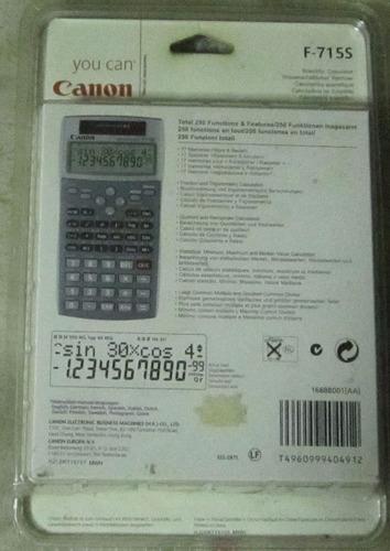 calculadora cientifica-canon f-715s