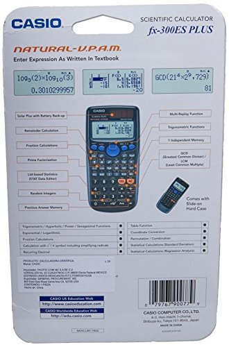 calculadora científica casio fx-300es plus, negra