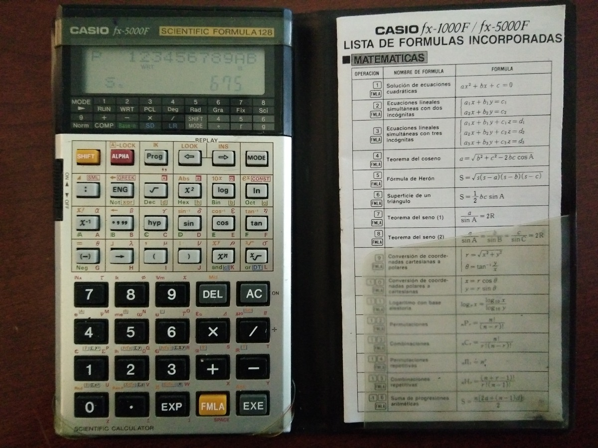 fc2d717c8e71 Calculadora Cientifica Casio Fx-5000f