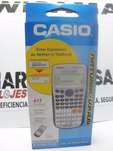 calculadora científica casio fx 570 es plus 417 funciones