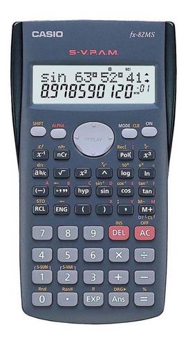 calculadora científica casio fx-82ms-sc4 preto 120 funções