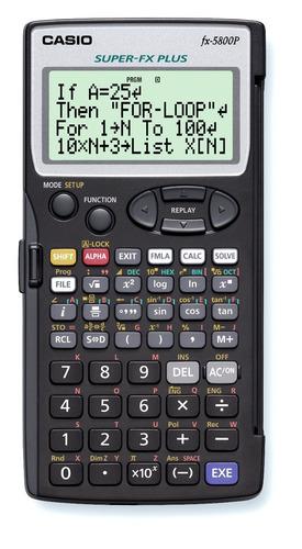 calculadora cientifica programable casio fx-5800p original