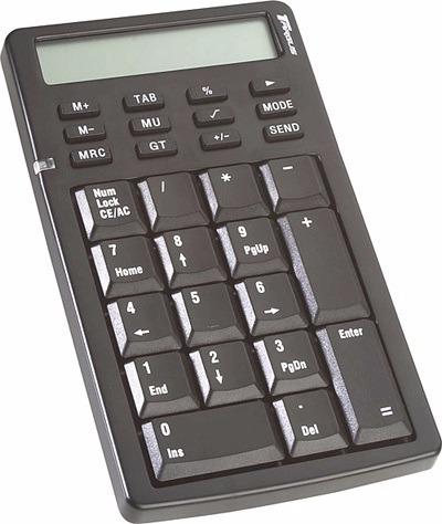 calculadora comercial teclado numerico usb bateria fujitel