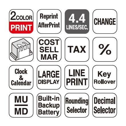 calculadora con impresor casio  sumadora dr-210r-we