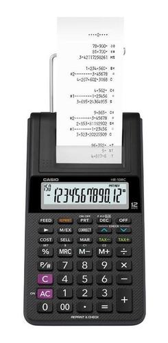 calculadora con impresor casio  sumadora hr-10rc