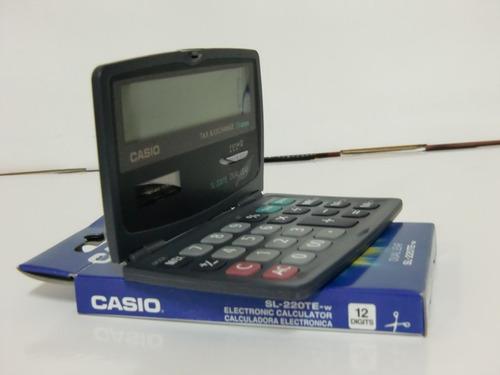 calculadora convencional casio sl-220t portatil 12 digitos