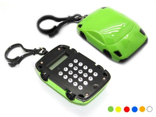 calculadora de bolsillo tipo llavero diseño automovil