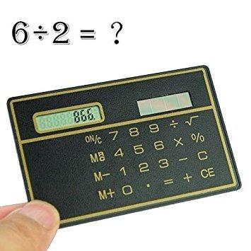 calculadora de bolso cartão crédito mini slim energia solar