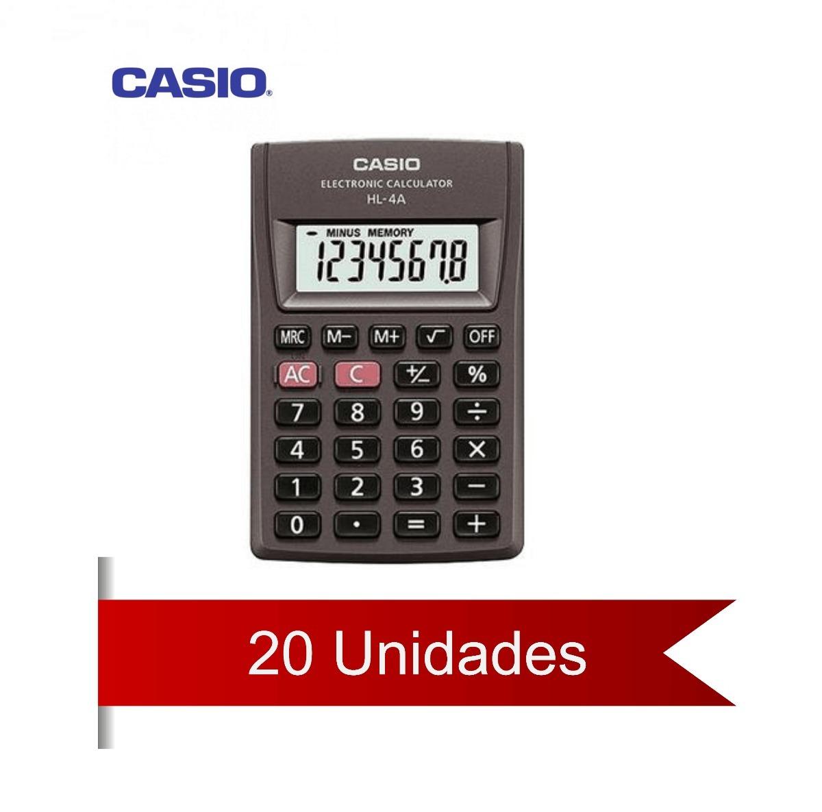 7c7543d2605 Calculadora De Bolso Casio Desligamento Automático 20 Unid - R  318 ...