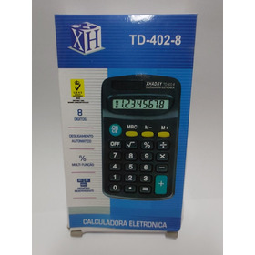Calculadora De Bolso De 08 Dígitos Pequenas