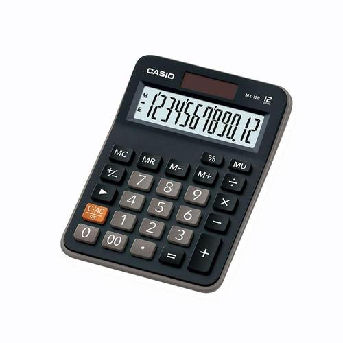 calculadora de escritorio casio mx-12b-bk negro