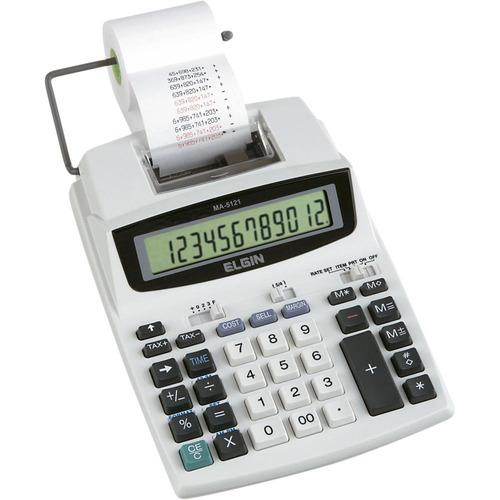 calculadora de mesa ma5121 c/ bobina bivolt - elgin